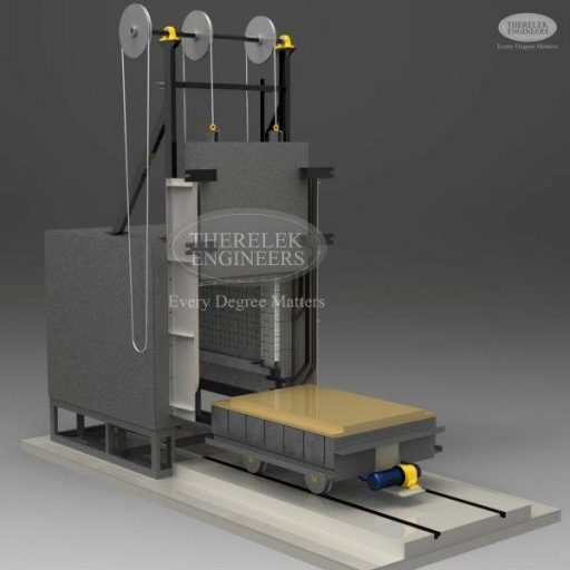 bogie type heat treatment furnace